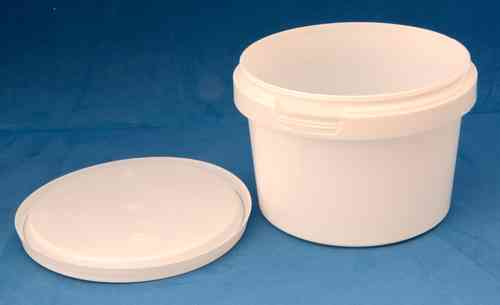 560ml White Round Tamper Proof Tub with Lid