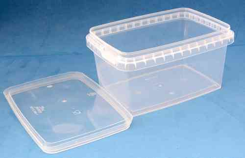 580ml Clear Rectangular Tamper Proof Tub with Lid