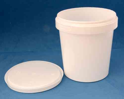 870ml White Round Tamper Proof Tub with Lid