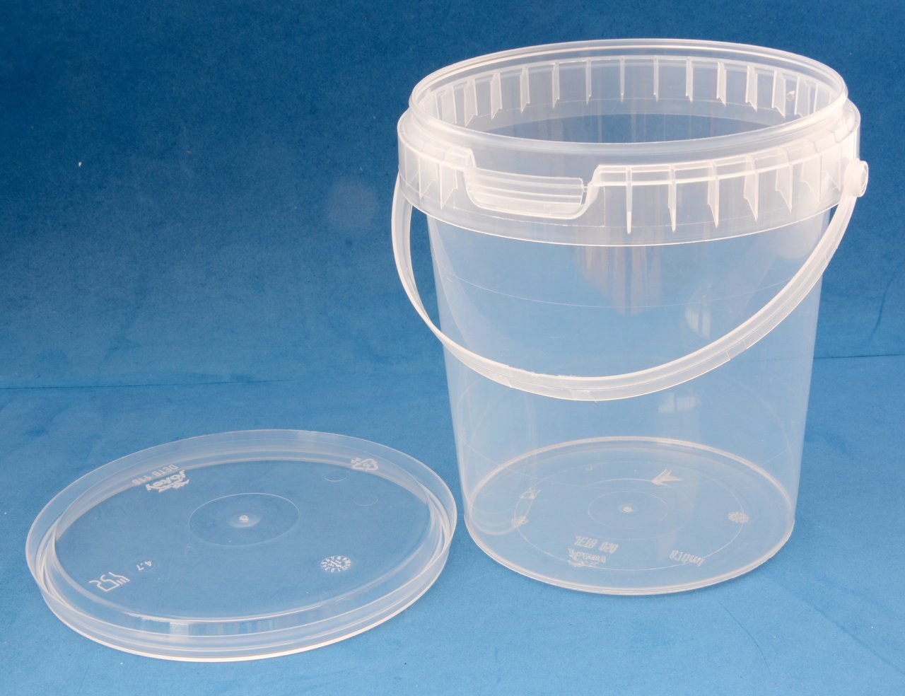 870ml Clear Round Tamper Proof Tub with Handle Lid - Jars & Things