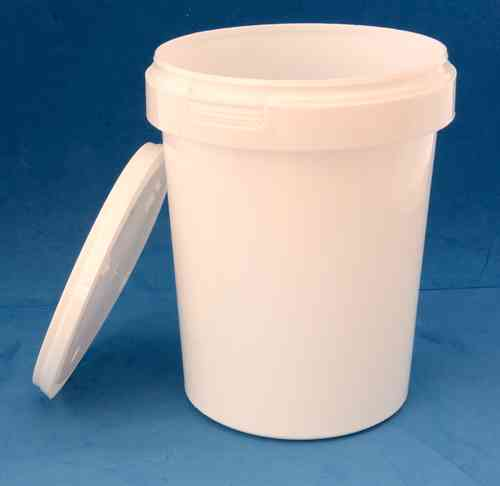1000ml White Round Tamper Proof Tub with Lid