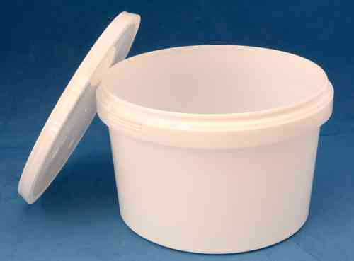 1090ml White Round Tamper Proof Tub with Lid