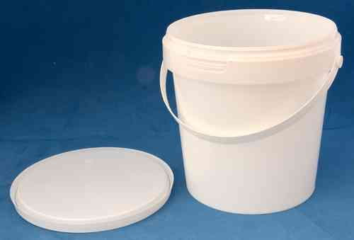 1180ml White Round Tamper Proof Tub with Handle and Lid