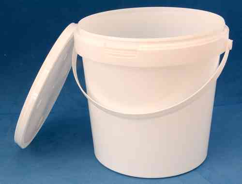 1580ml White Round Tamper Proof Tub with Handle and Lid