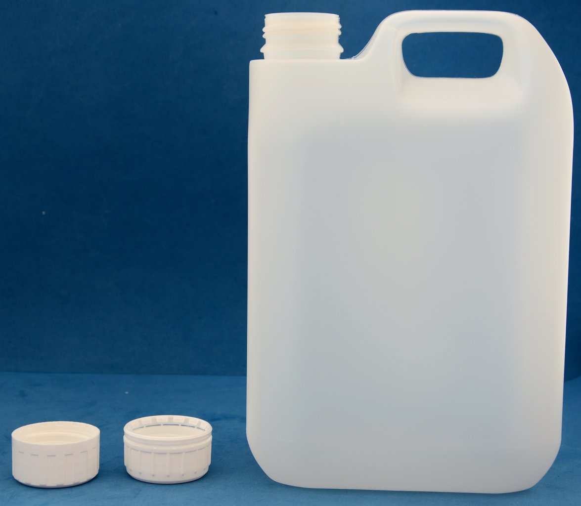 2500ml Plastic Jerrycan with 38mm Tamper Evident Screw Cap