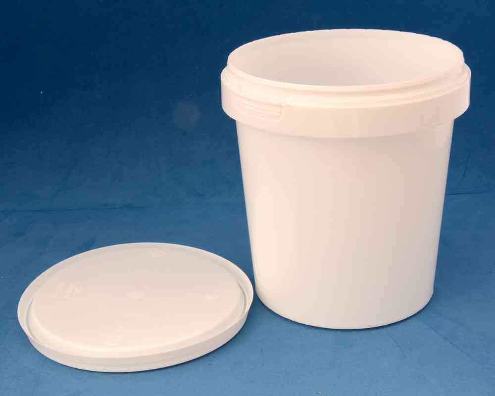 870ml White Round Tamper Proof Tub with Lid - Jars & Things