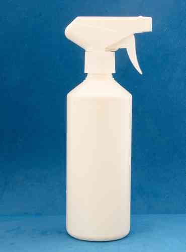 500ml White Plastic Bottles with 28mm White Trigger Spray Caps