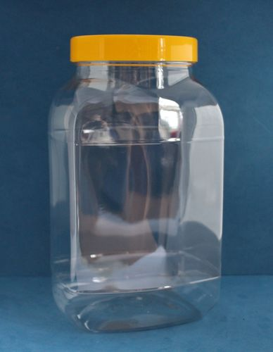 3000ml Rectangular Jar with Yellow Cap