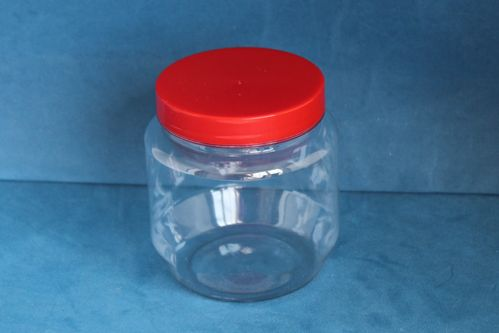 425ml Short Round Jars with Red Screw Caps