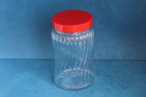 450ml Spiral Jar with Red Screw Cap