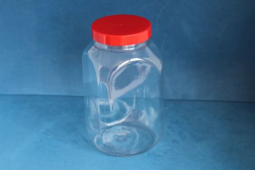 1000ml Square Jar with Red Screw Cap