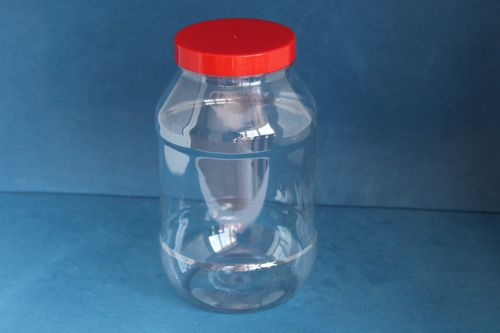1000ml Round Jars with Red Screw Cap