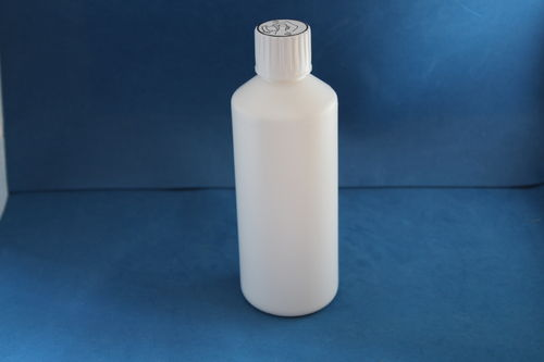 500ml White Plastic Bottle with 28mm Click Lock Cap