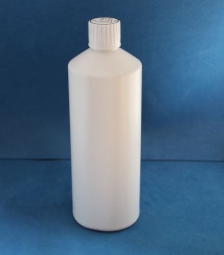 1000ml White Plastic Bottle with 28mm Click Lock Cap