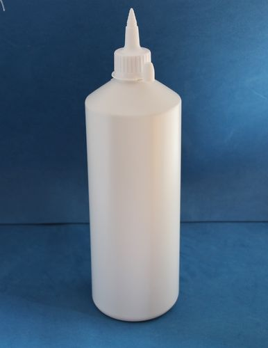 1000ml White Plastic Bottle with 28mm Wide Spout Caps