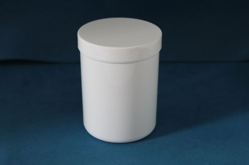 250ml White Plastic Storage Jars with Screw Caps