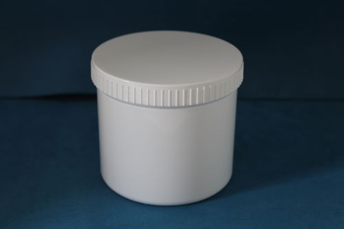 500ml White Plastic Storage Jars with Screw Caps