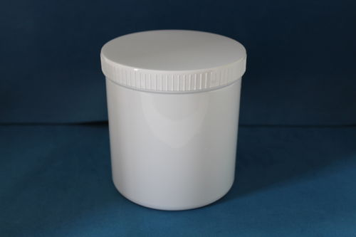 1000ml White Plastic Storage Jars with Screw Caps
