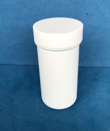 50ml White Plastic Storage Jars with Screw Caps