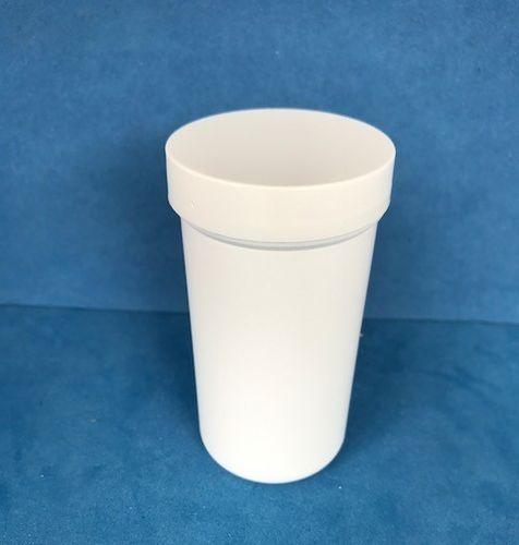 100ml White Plastic Storage Jars with Screw Caps