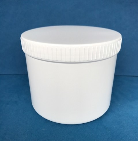 750ml White Plastic Storage Jars with Screw Caps