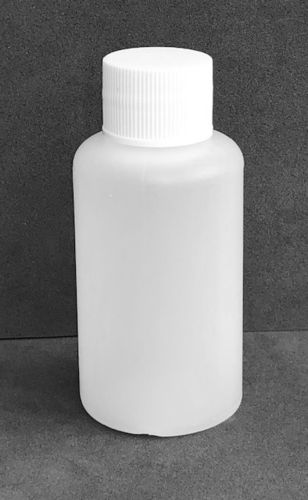 50ml Natural Plastic Bottles with 20mm White Screw Caps